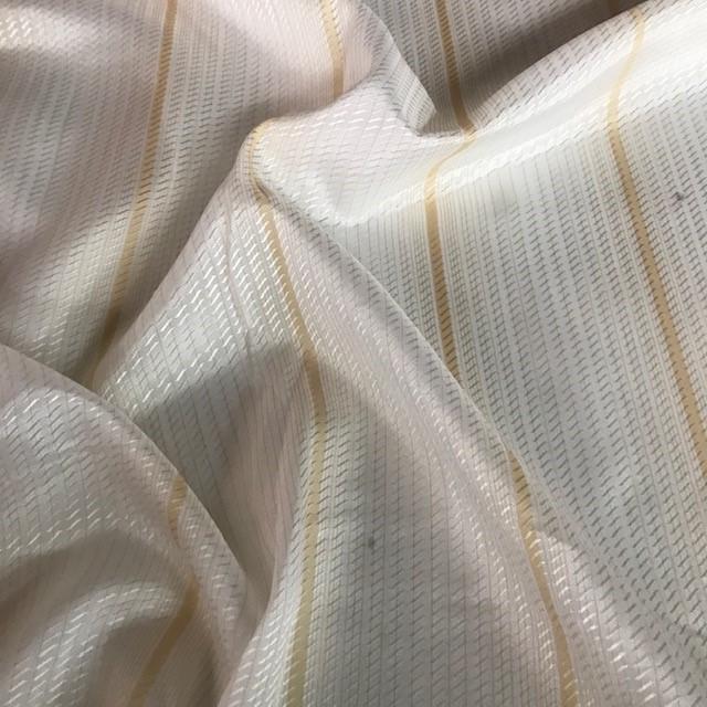 Sheer Wide Width Odissea Striped Light Beige