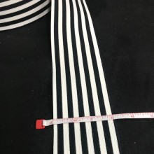 "Elastic 3"" Flat Trim Striped"
