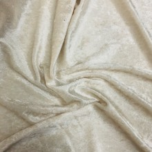 Velour (stretch velvet)Ivory