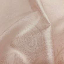 Satin Raso Paisley Powder Pink